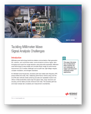 Tackling Millimeter-wave Signal Analysis Challenges