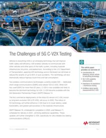 The Challenges of 5G C-V2X Testing Cover Image