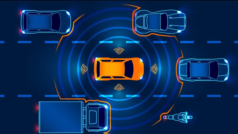 Image of automotive radar