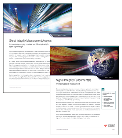 Image of two signal integrity white papers
