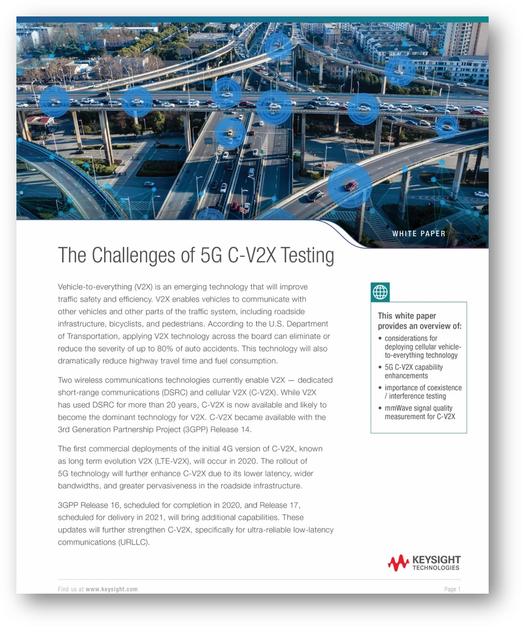 The Challenges of 5G C-V2X Testing white paper